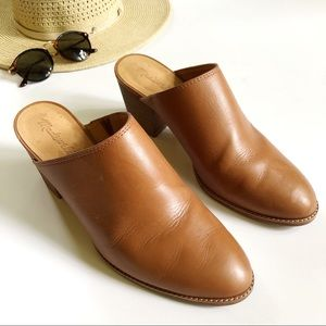 EUC✨Madewell The Harper Brown Leather Mules Sz 10